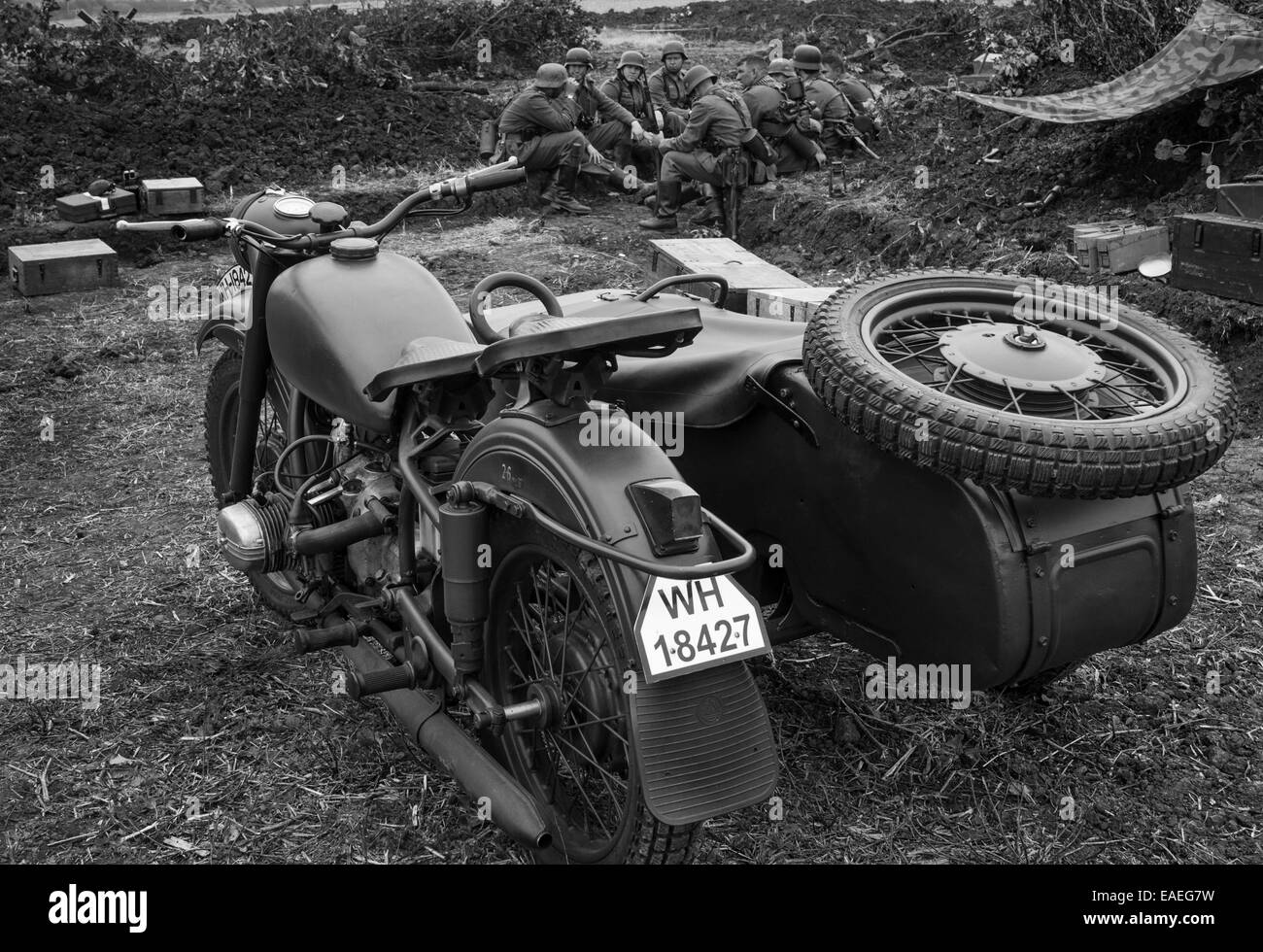 Ural Black And White Stock Photos Images Alamy Engine Diagram Imz M66 1970s Russian Made Motorcycle Sidecar Painted To Represent A Ww2 Wartime