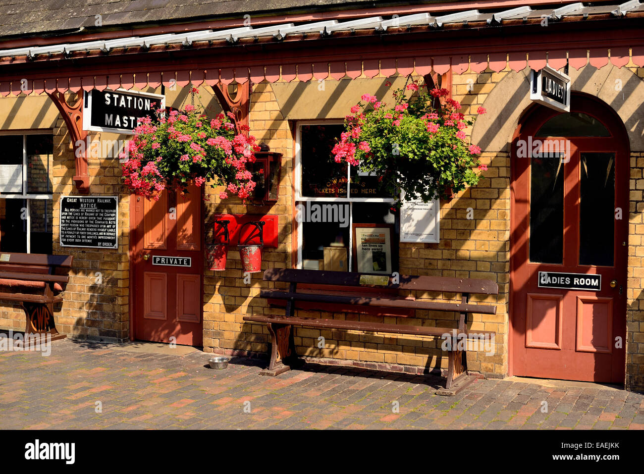 Station building at Arley on the Severn Valley Railway. - Stock Image