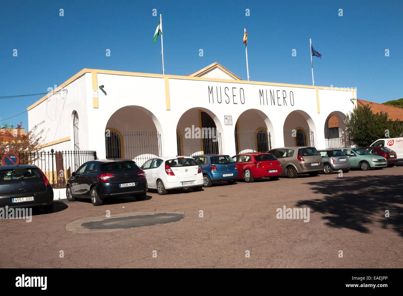 Museo Minero mining museum in Rio Tinto  mining area, Minas de Riotinto, Huelva province, Spain - Stock Image