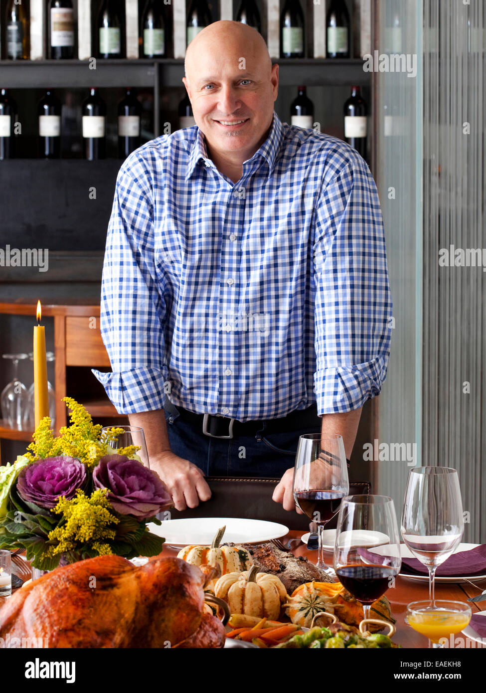 New York Ny Chef Tom Colicchio Prepares A Thanksgiving Meal At His