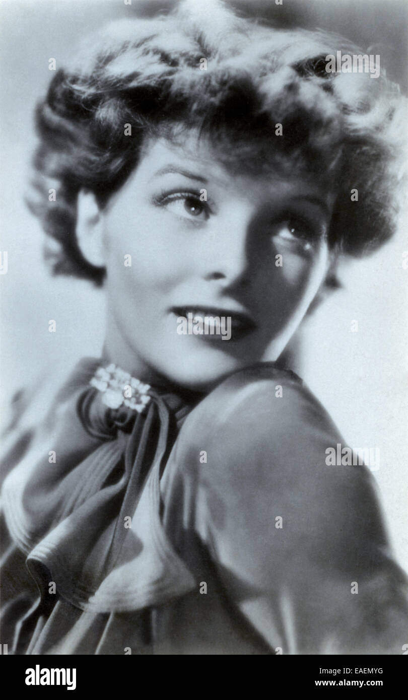 Katharine Hepburn from a 1930s Ross Verlag card - Stock Image