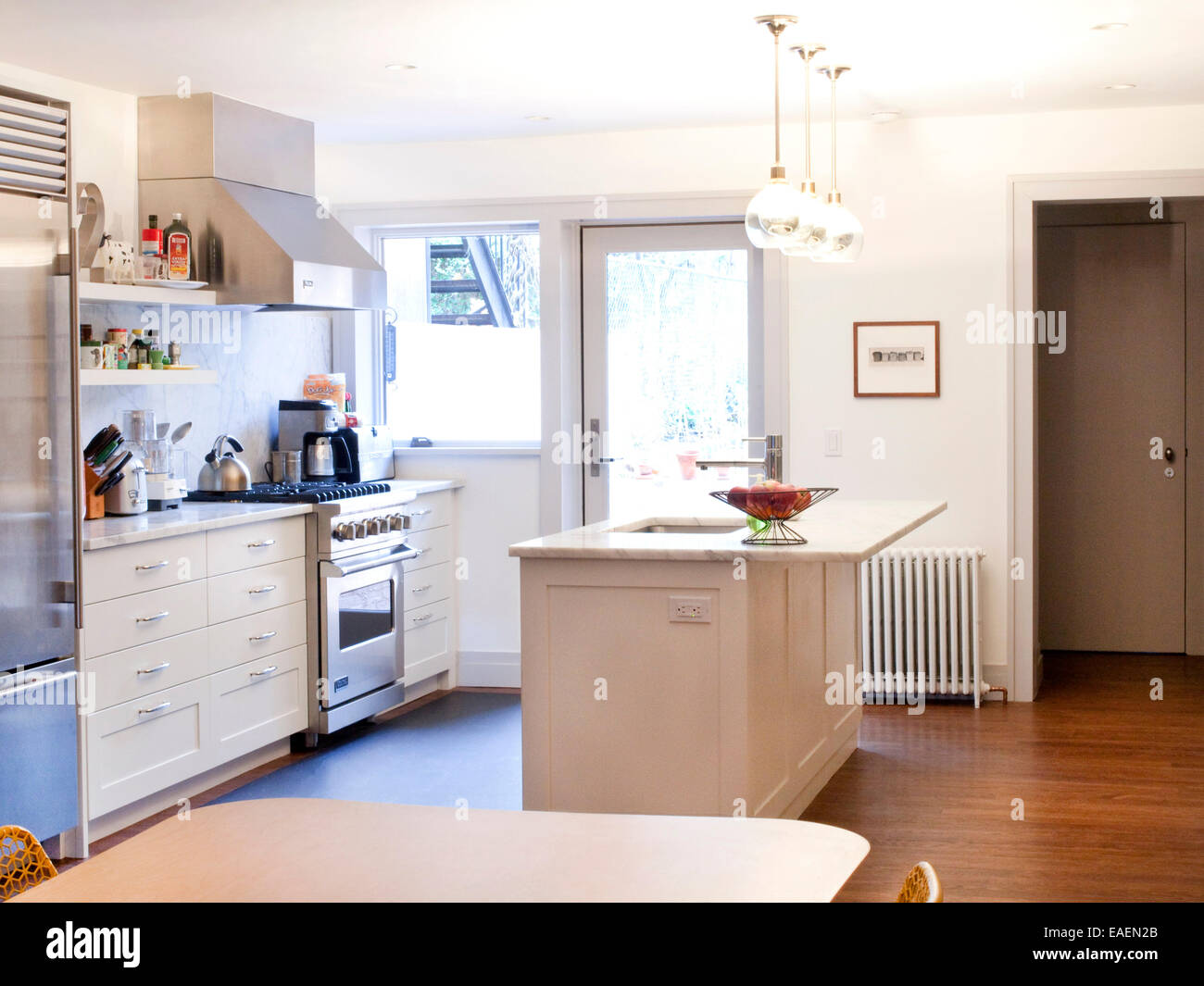 contemporary kitchen - Stock Image