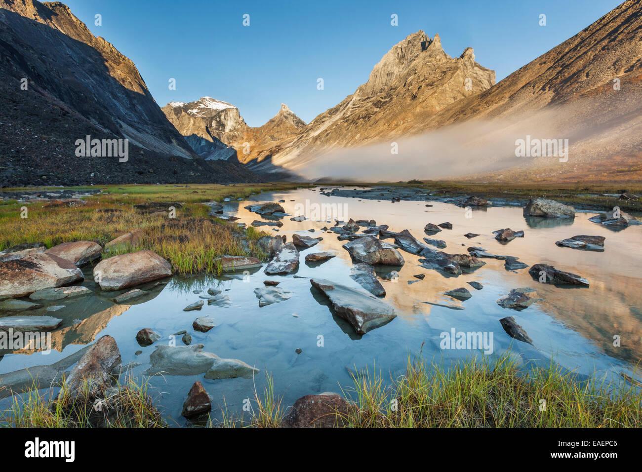 Mountain,Reflection,Arial,caliban,xanadu - Stock Image