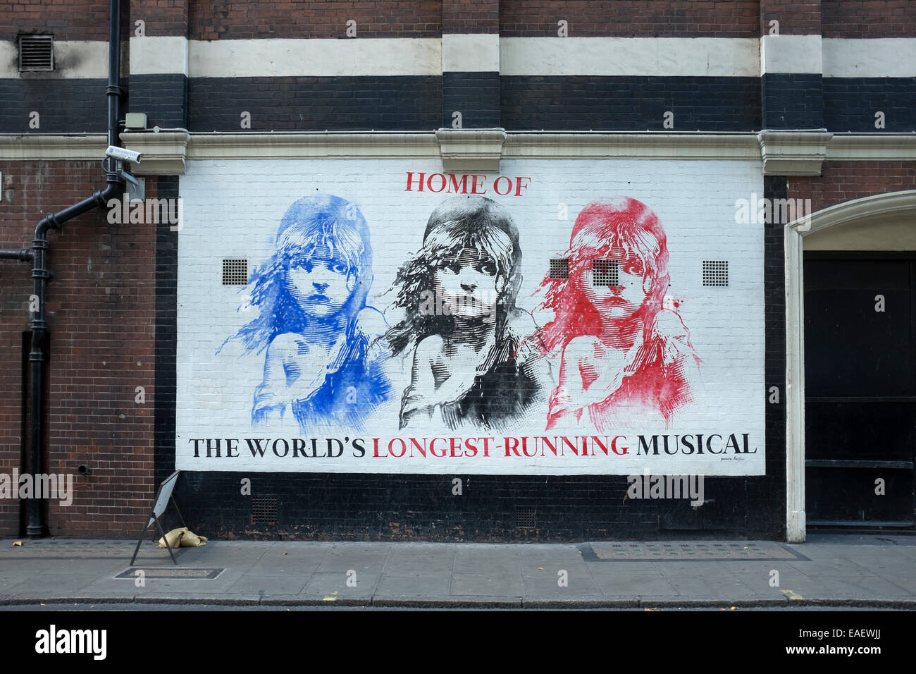 Les Miserables  Theatre Poster in London Westend - Stock Image