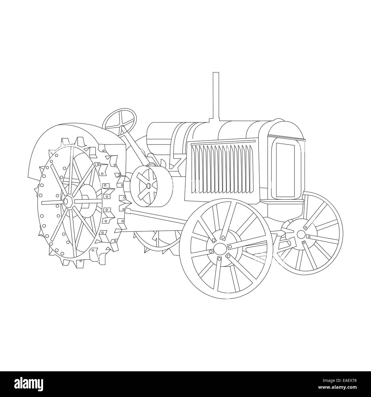 The contour of the old tractor release 1932 - Stock Image
