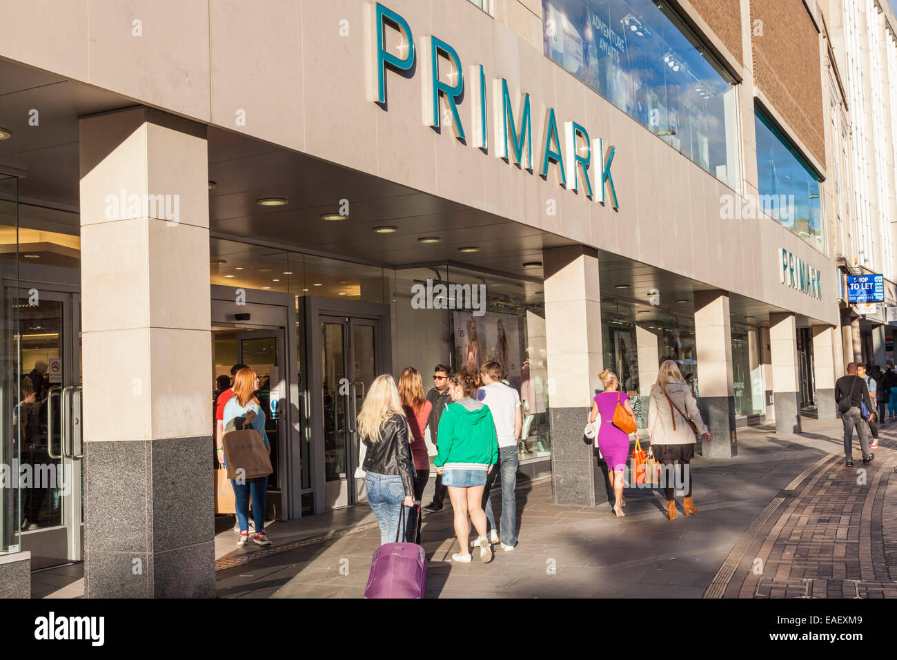 Where are the Primark stores in England?