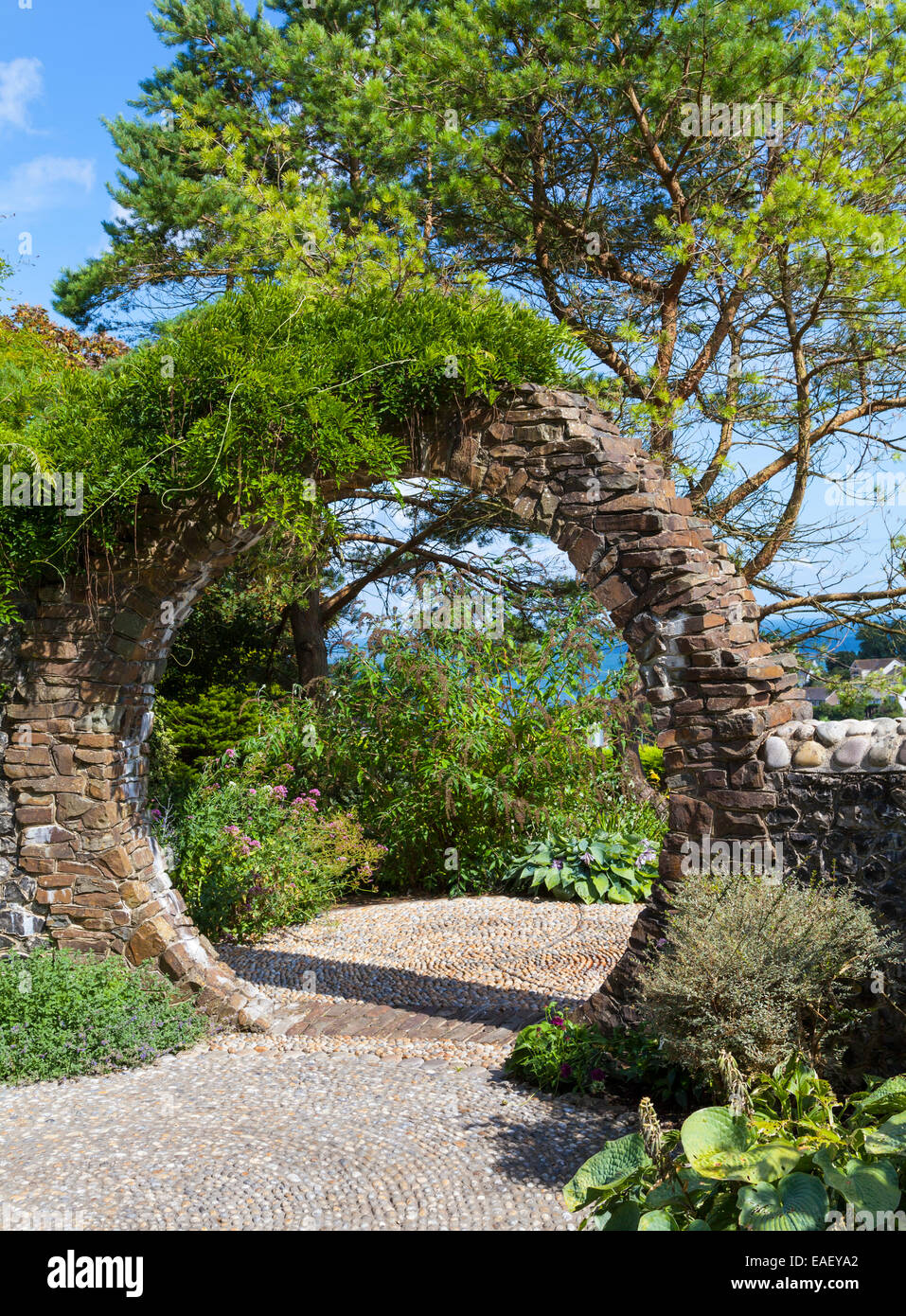 Brick Garden Arch   Stock Image