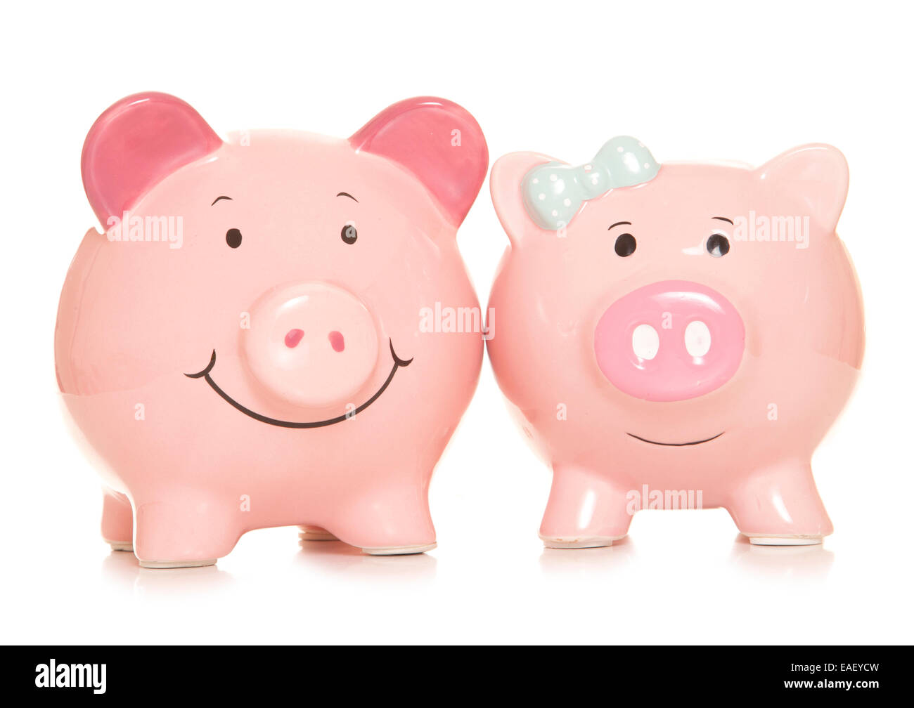 marriage financial benefits piggy banks cutout - Stock Image