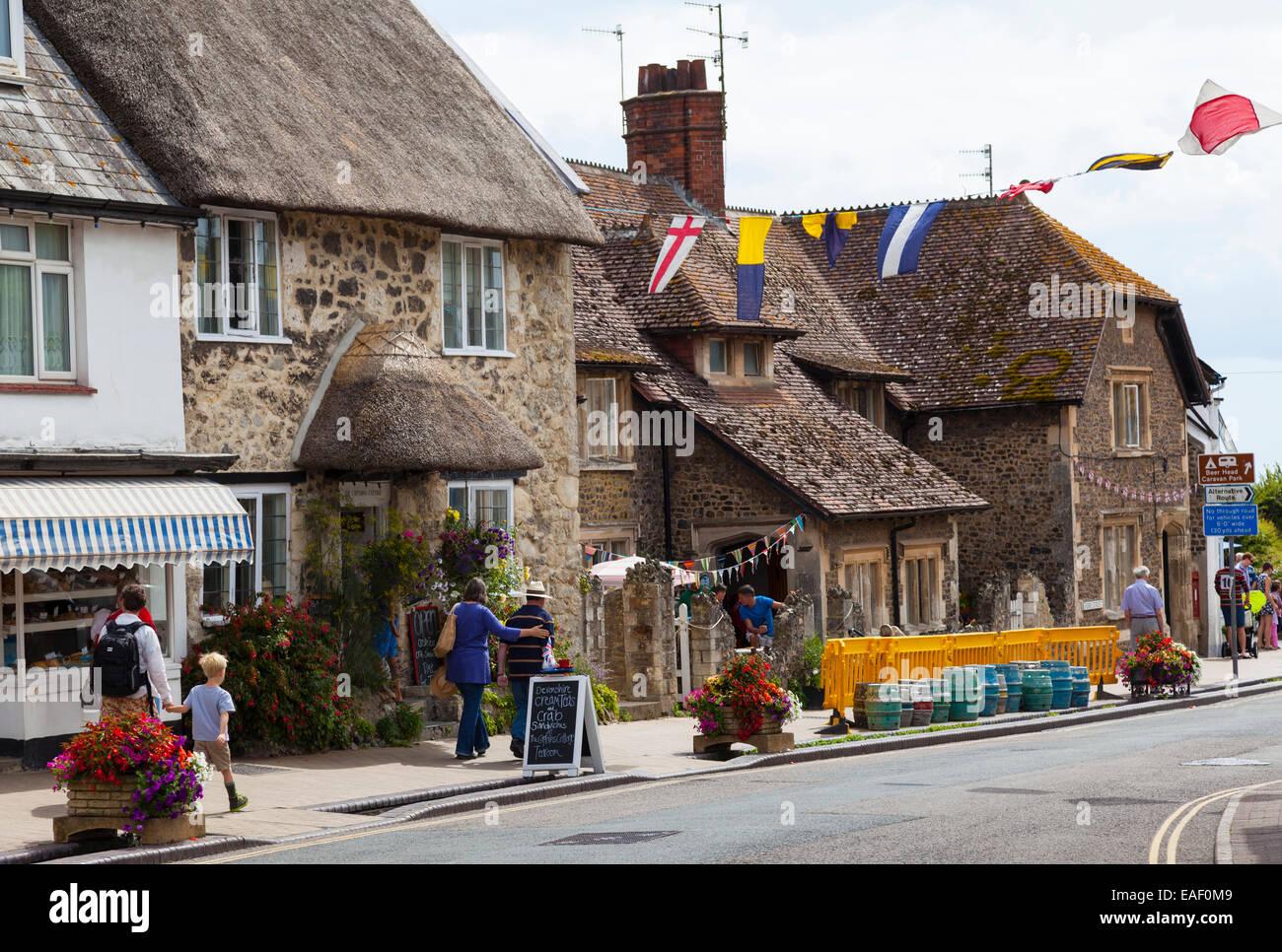 Fore street, Beer, Devon - Stock Image