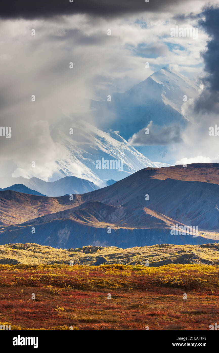 Weather,Dramatic,Alaska,Mount Mckinley,Sky - Stock Image