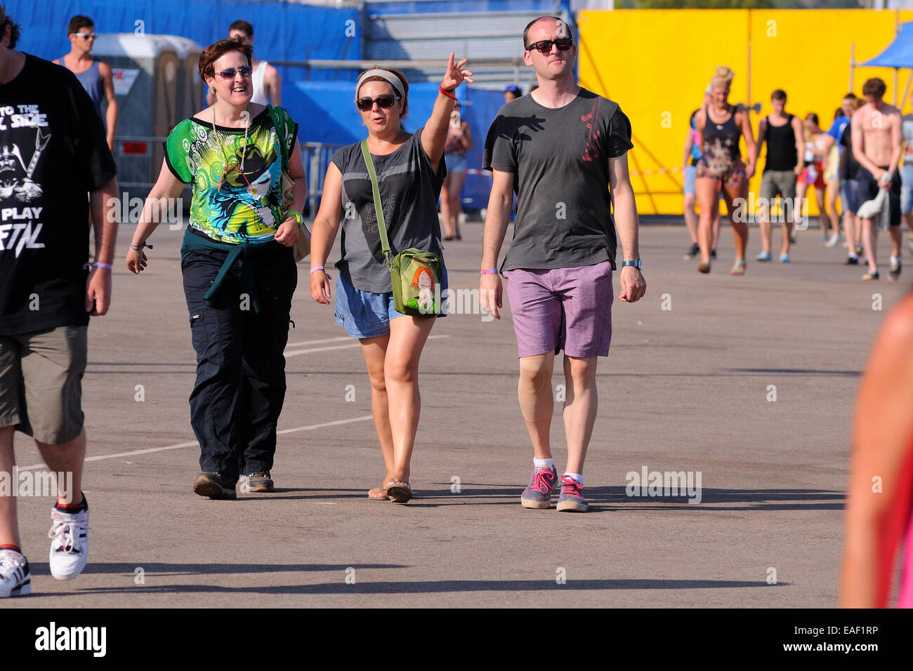 BENICASIM, SPAIN - JULY 19: People at the entrance after buying their tickets at FIB Festival. - Stock Image