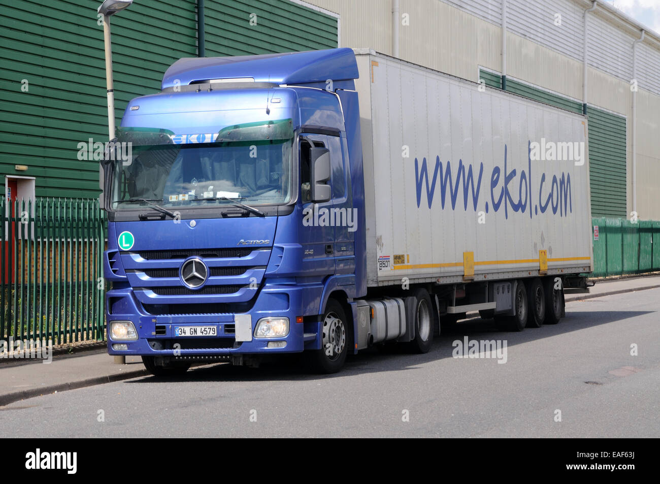 A Mercedes Actros 1848 Tractor Unit And Trailer In The Livery Of