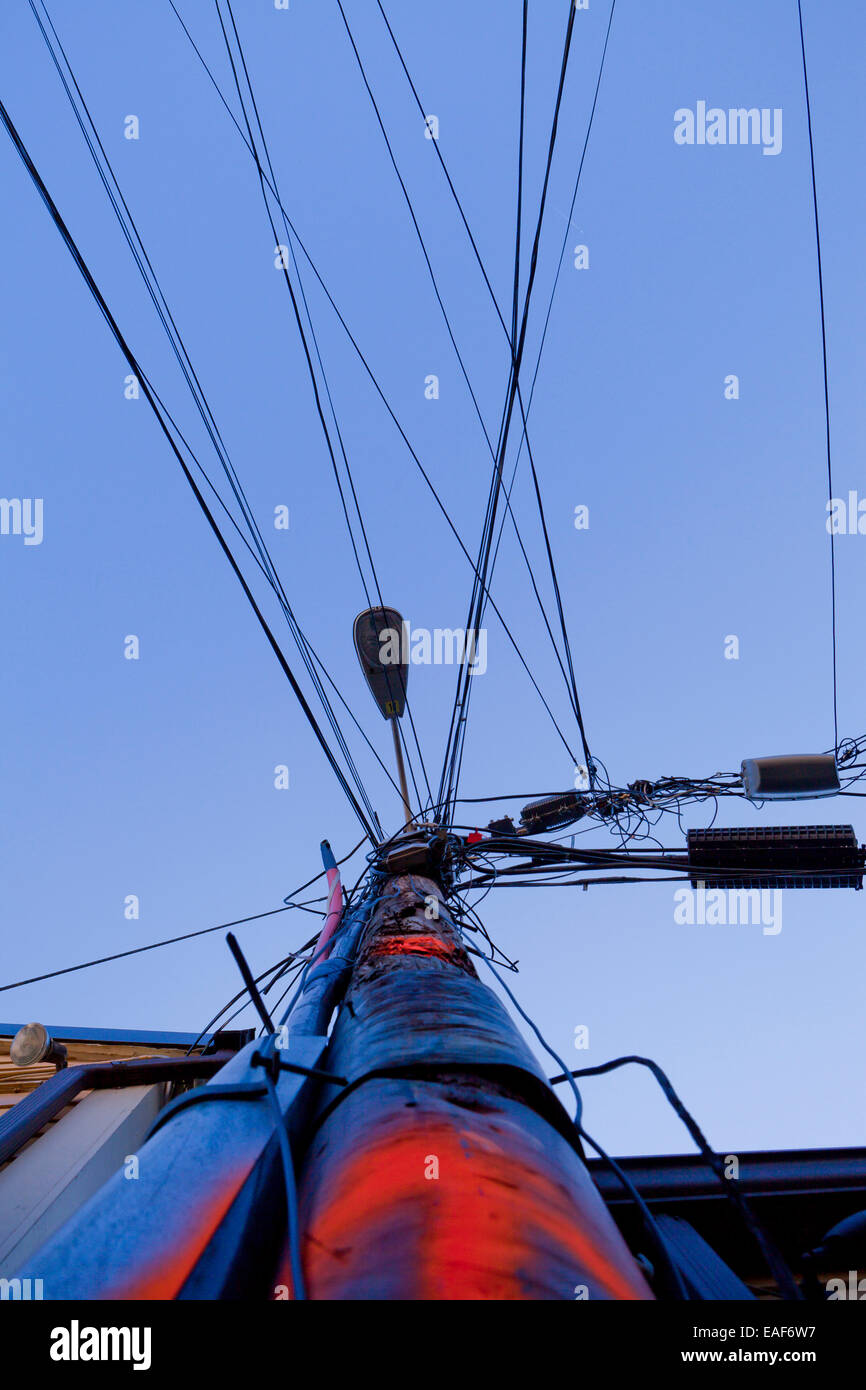 Electrical Power Lines Stock Photos & Electrical Power Lines Stock