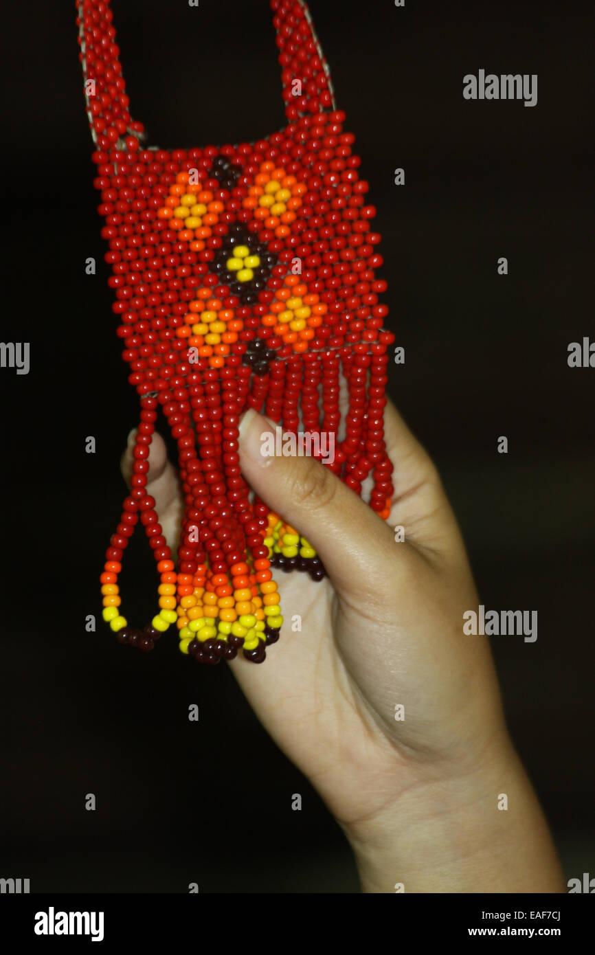 Native American Indian beading necklace - Stock Image
