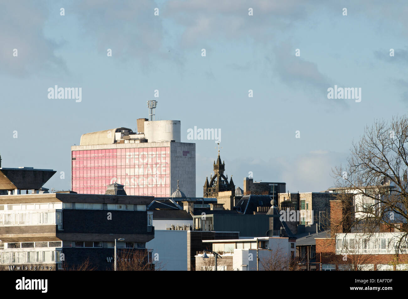 Rooftops east of Glasgow City Centre. - Stock Image