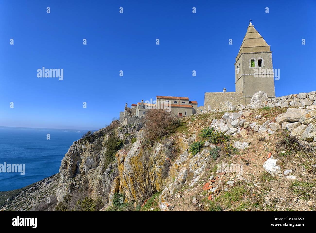 Ancient Fort City Lubenice, Croatia Stock Photo