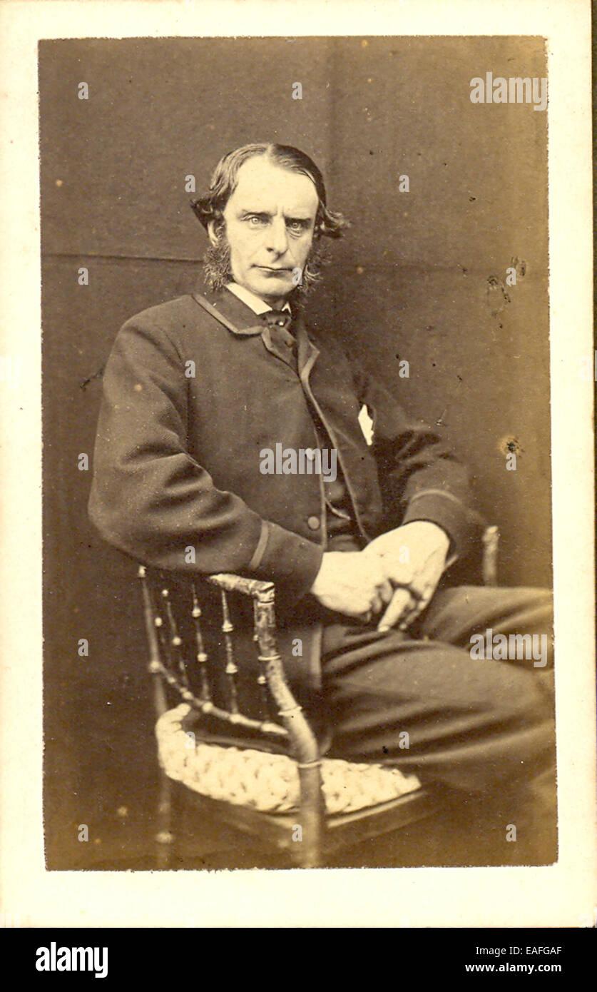 Carte De Visite Portrait Of The Reverend Charles Kingsley