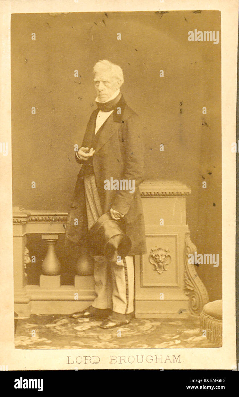 Carte de visite photograph of Lord Brougham - Stock Image