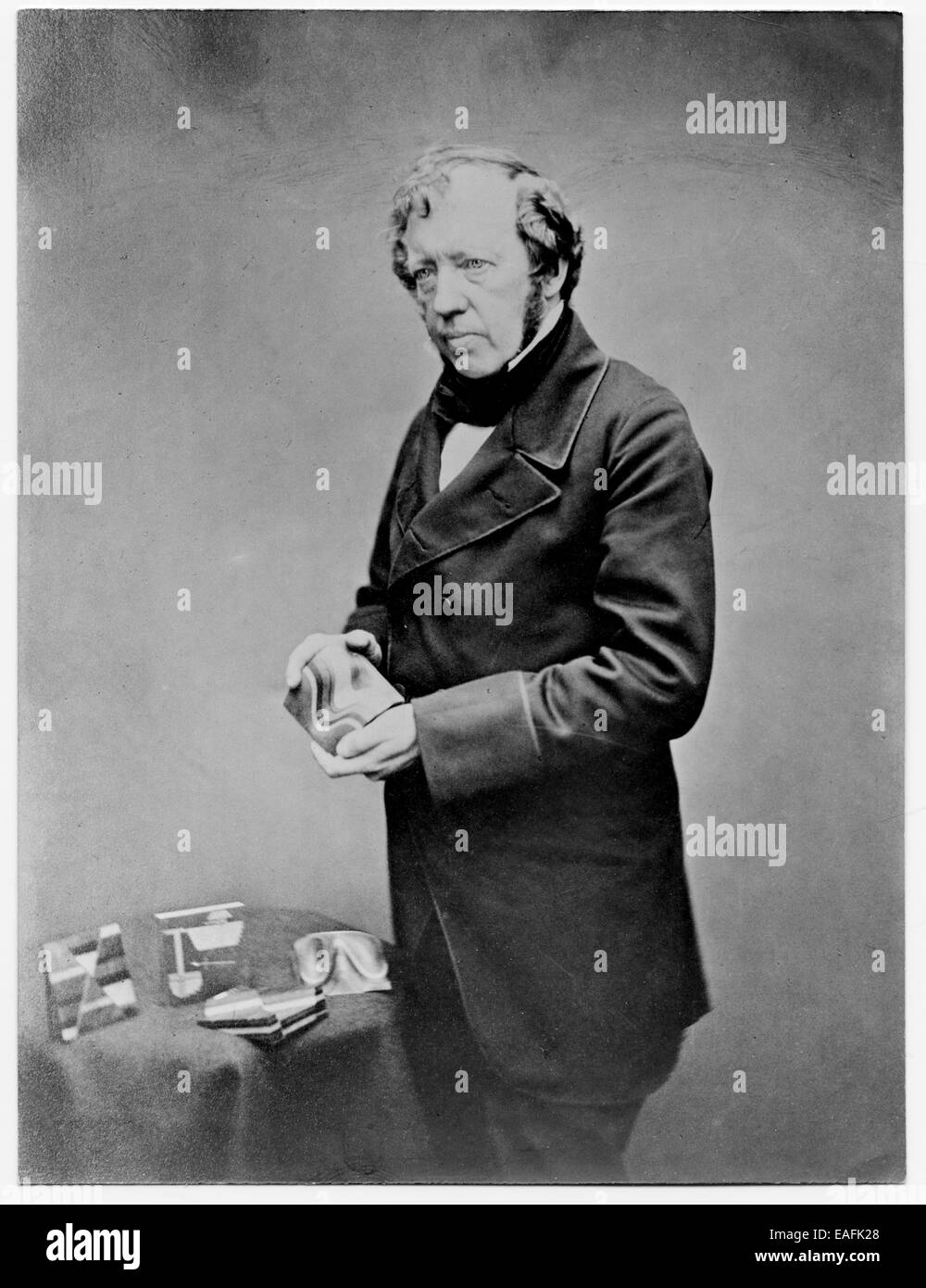 Thomas Sopwith (1803 - 1879): with geological models - Stock Image