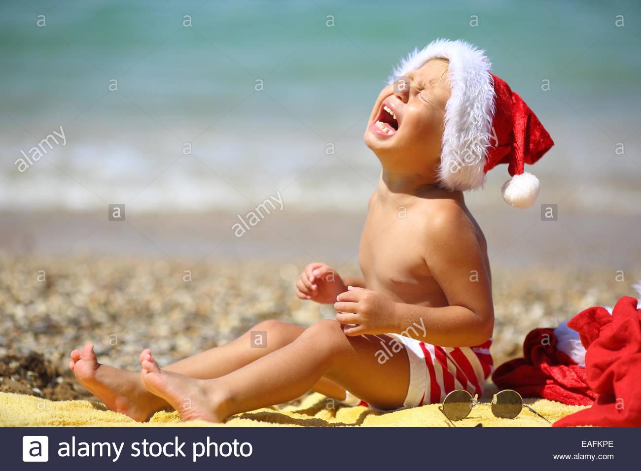 toddler Santa Claus Stock Photo