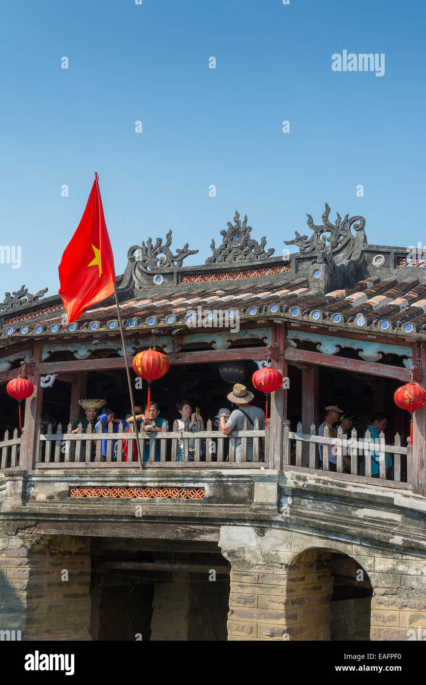 Japanese Covered Bridge, Cau Nhat Ban in Hoi An Vietnam - Stock Image