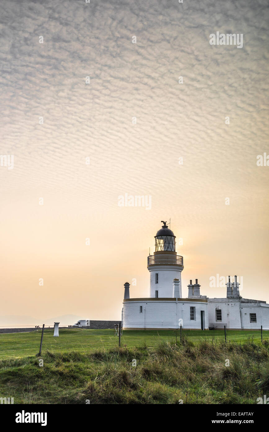 Chanonry Point Lighthouse on the Black Isle in Scotland. - Stock Image