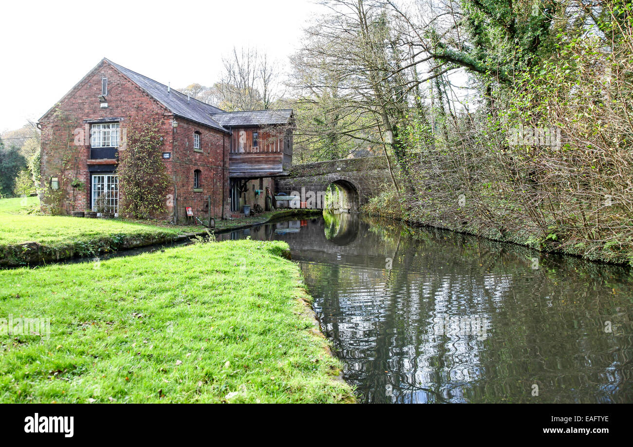 Froghall Wharf on the Caldon Canal Froghall Stoke-on-Trent Staffordshire - Stock Image