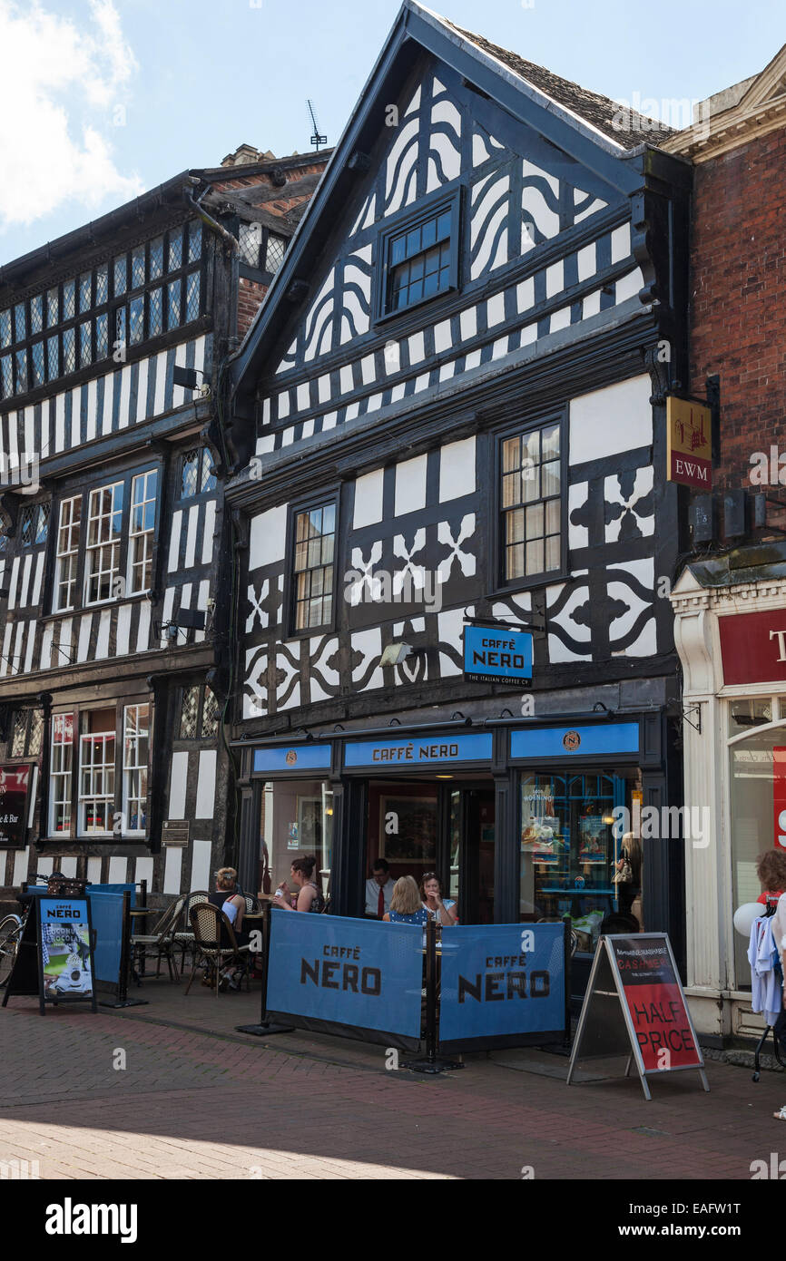 Cafe Nero in High Street in Nantwich Cheshire England UK - Stock Image