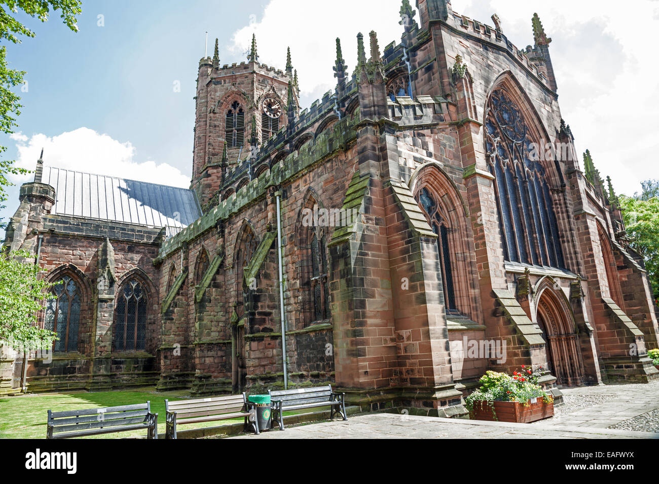 St Mary's Church Nantwich Cheshire England UK - Stock Image