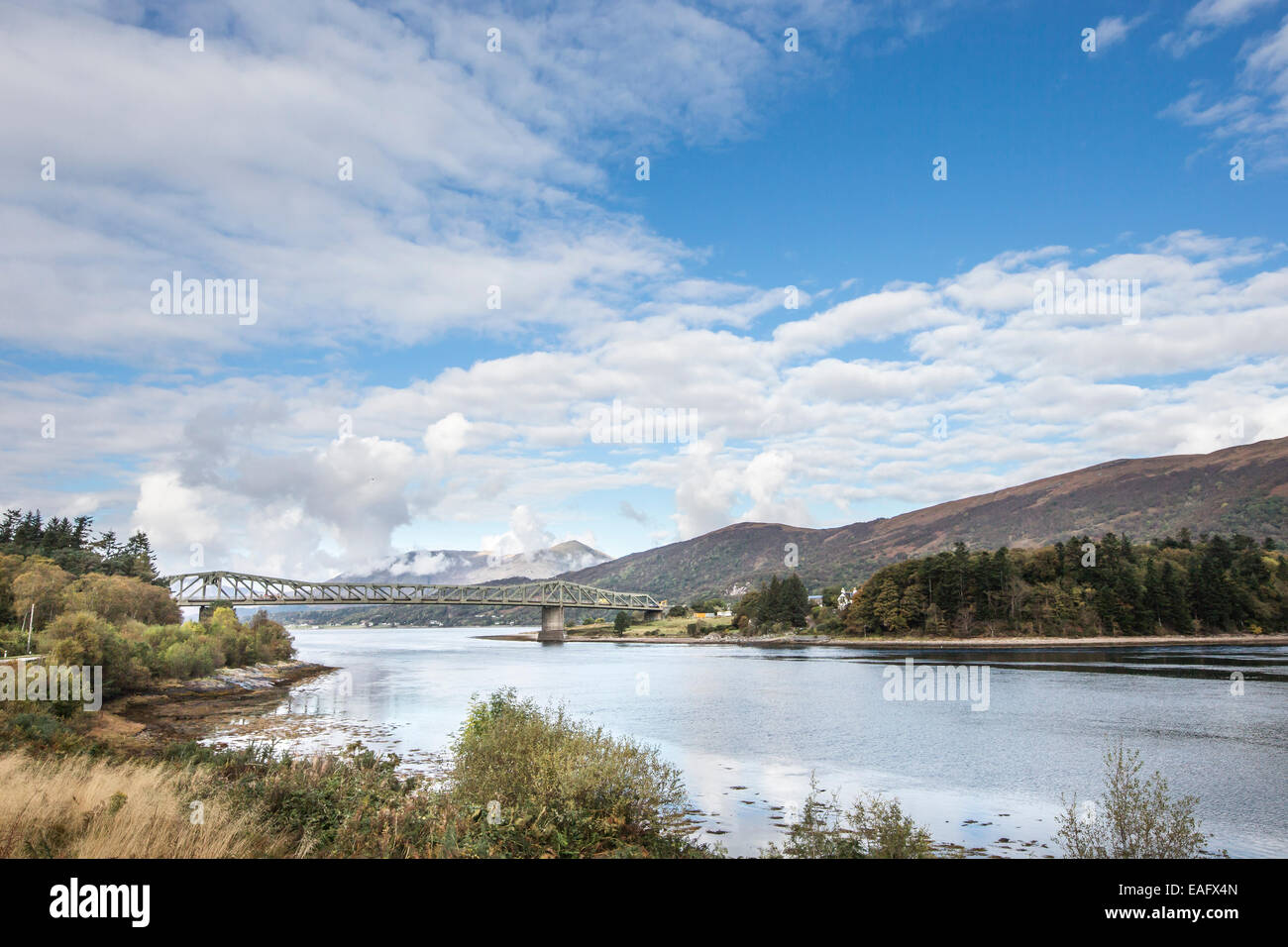 Ballachulish bridge & Loch Leven in the Highlands of Scotland. - Stock Image