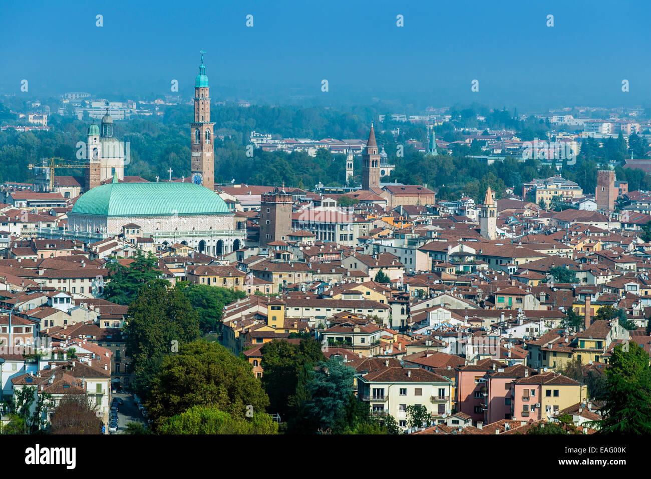 City skyline, Vicenza, Veneto, Italy - Stock Image