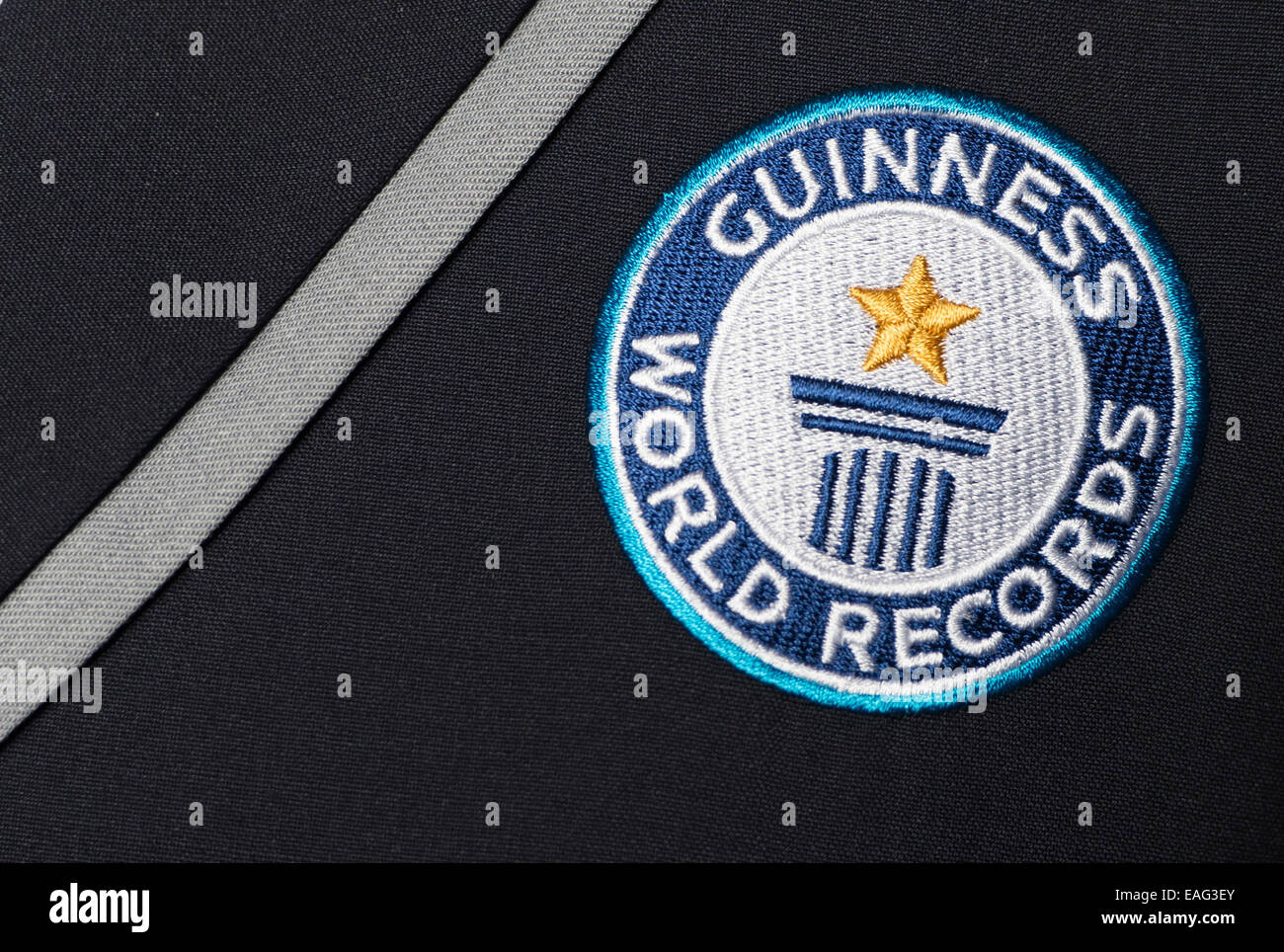 Berlin, Germany. 14th Nov, 2014. A badge with 'Guinness World Records' is pictured on a jacket in Berlin, - Stock Image