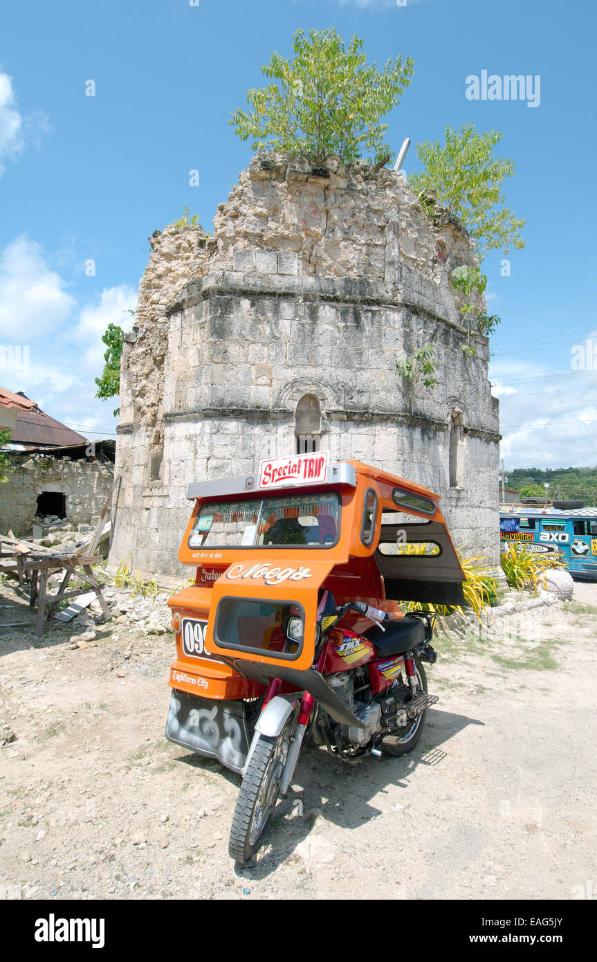 Tricycle Taxi, island Bohol,  Philippines, Southeast Asia - Stock Image