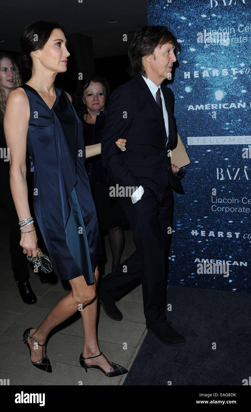 13th Nov 2014 Nancy Shevell Paul McCartney At Arrivals For An Evening Honoring Stella Alice Tully Hall Lincoln Center New York