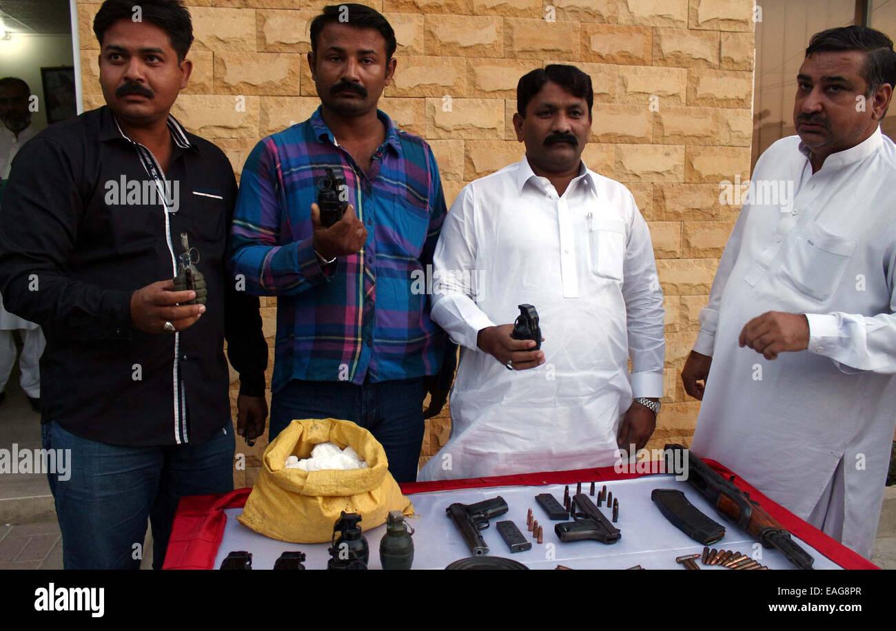 CID Police staffs showing seized ammunition recovered from criminals