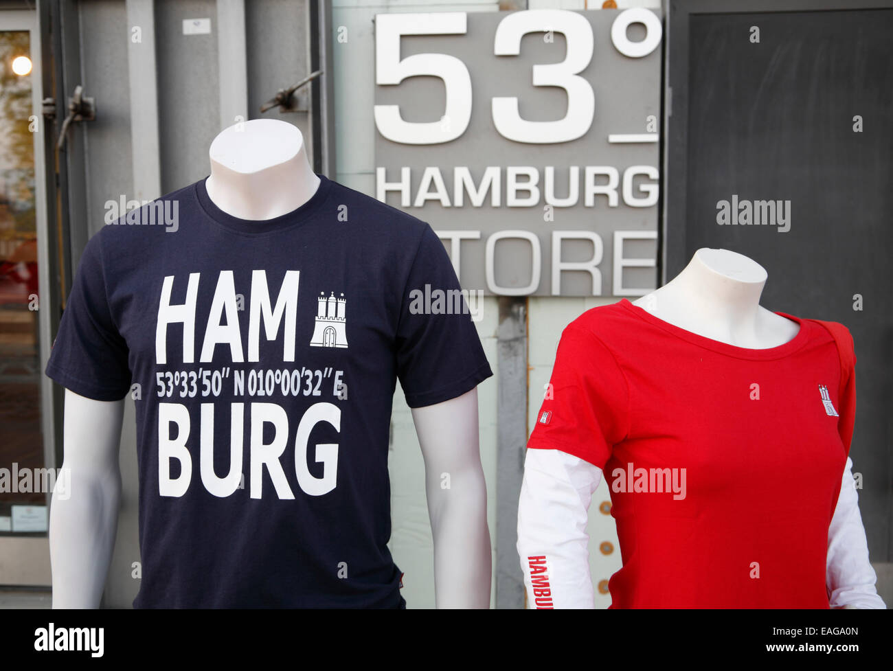 Souvenirshop at Hafencity, Hamburg, Germany, Europe - Stock Image