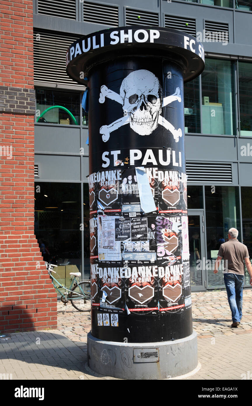 Fan-Shop at Millerntor Stadium, Football Club FC St. Pauli, Hamburg, Germany, Europe - Stock Image