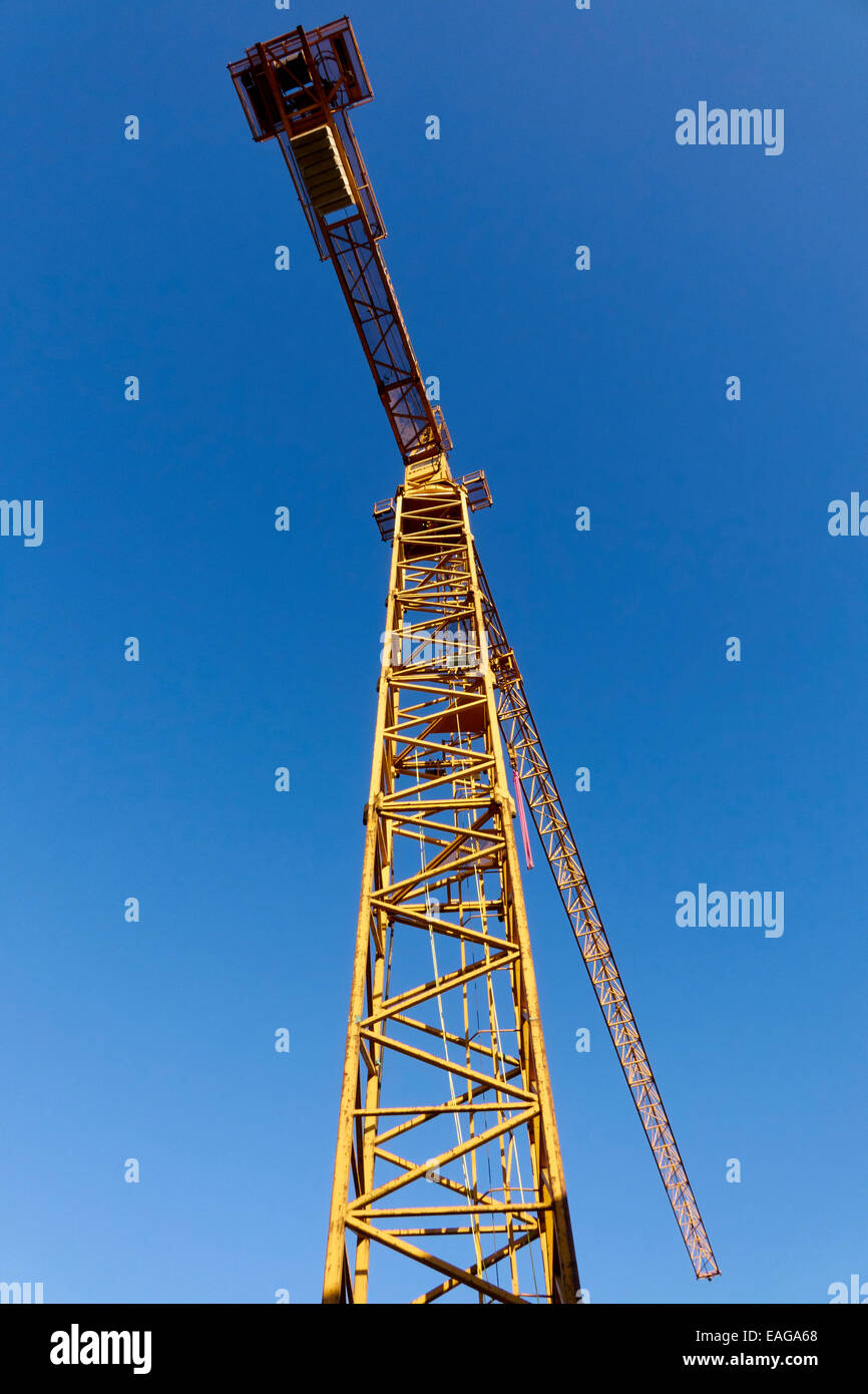 Crane on a construction site - Stock Image
