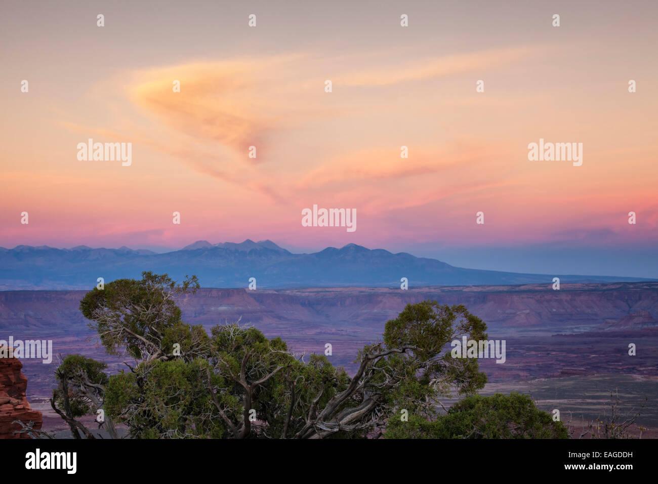 Dusk at Canyonland, Utah - Stock Image