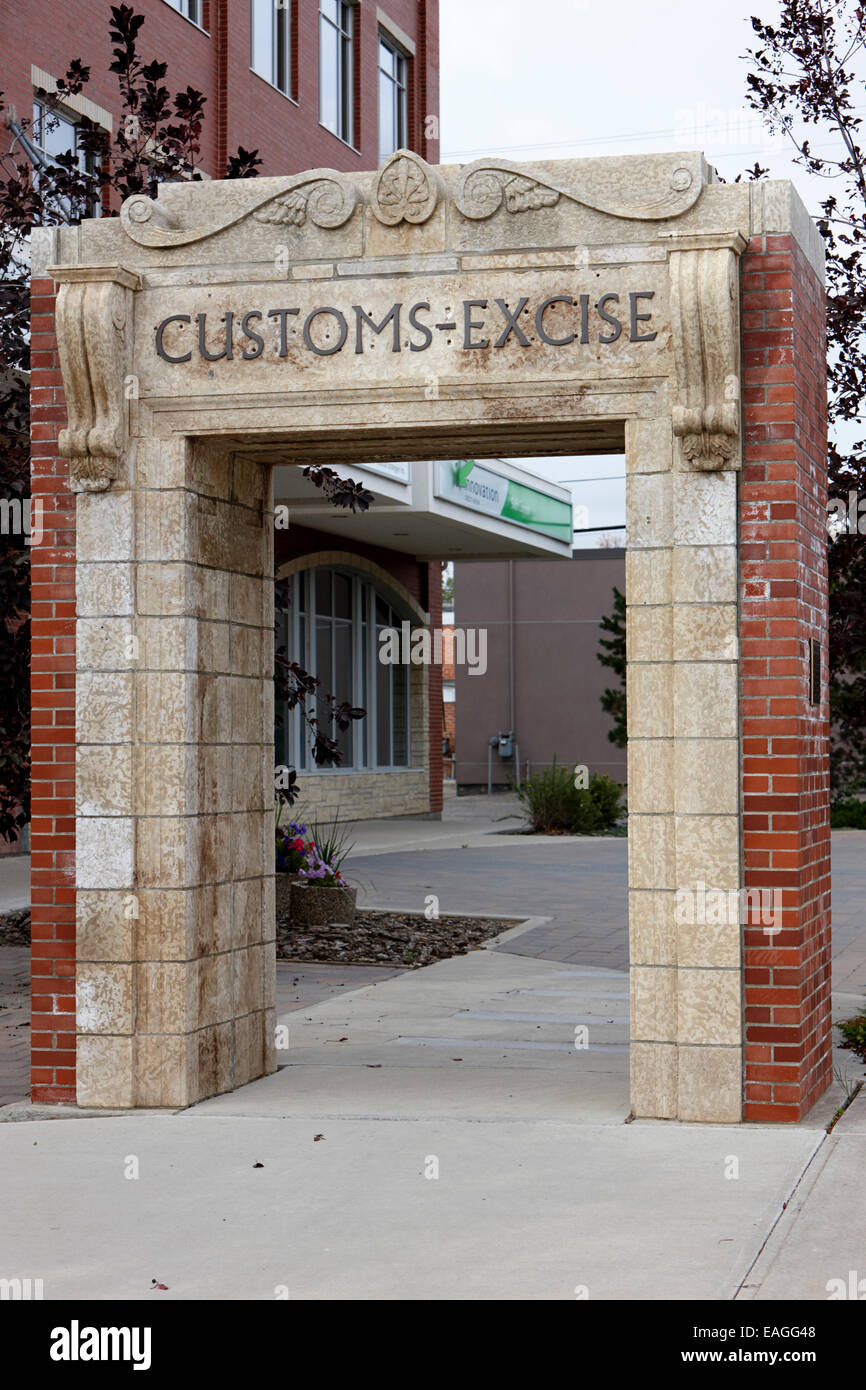 old customs and excise building arch swift current Saskatchewan Canada - Stock Image