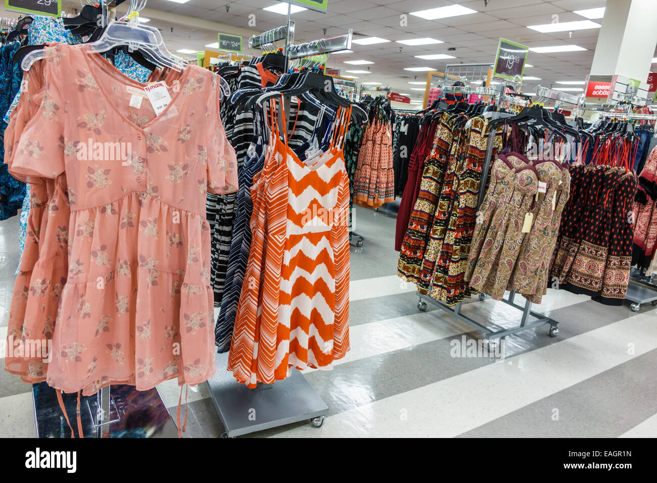 7f741358c78a Miami Florida Aventura T.J. Maxx inside shopping discount department store women's  clothing dresses sale display