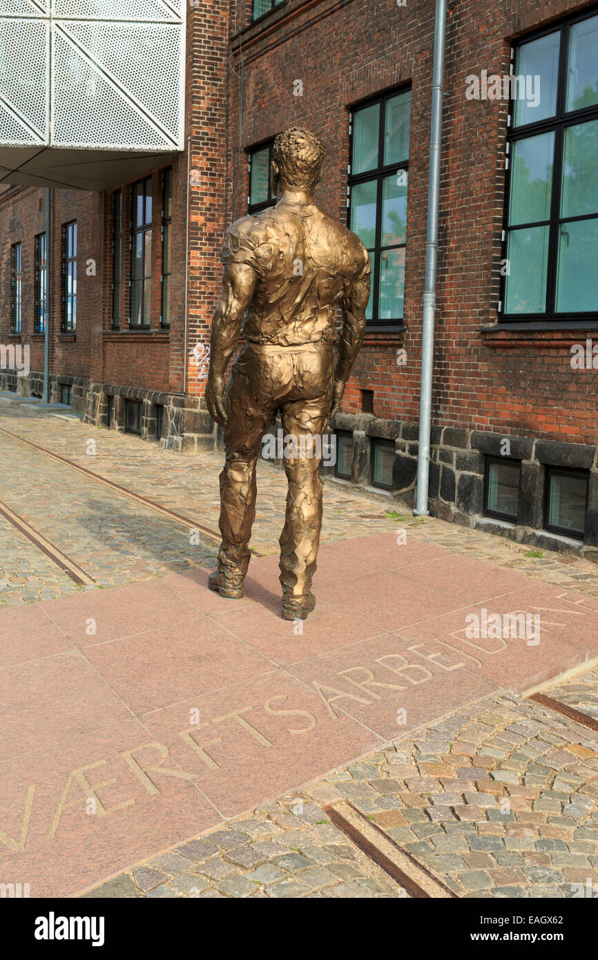 Sculpture, The Culture Yard, Helsingor, Zealand, Denmark, Europe - Stock Image