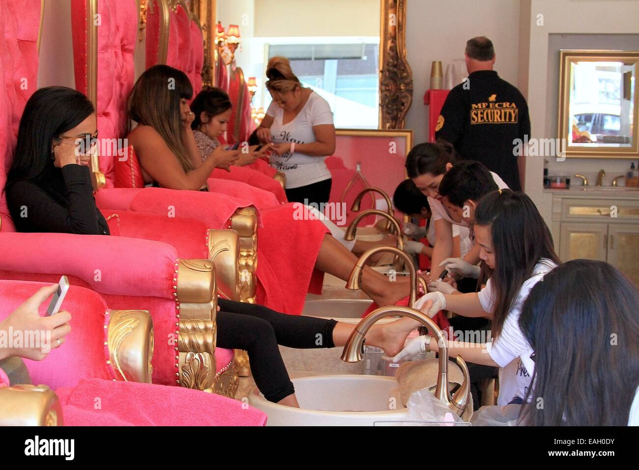 Lilly Ghalichi visits a nail salon in Beverly Hills Featuring: Lilly ...