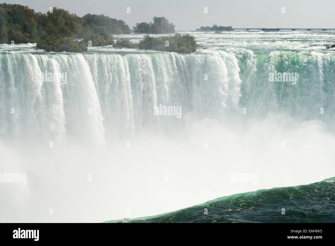 Horseshoe falls, Niagara Falls seen from the top Ontario, Canada - Stock Image