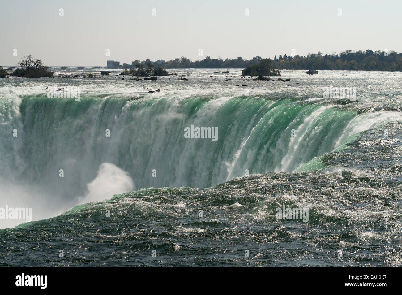 Horseshoe falls, Niagara Falls seen from the top Ontario, Canada - Stock Image