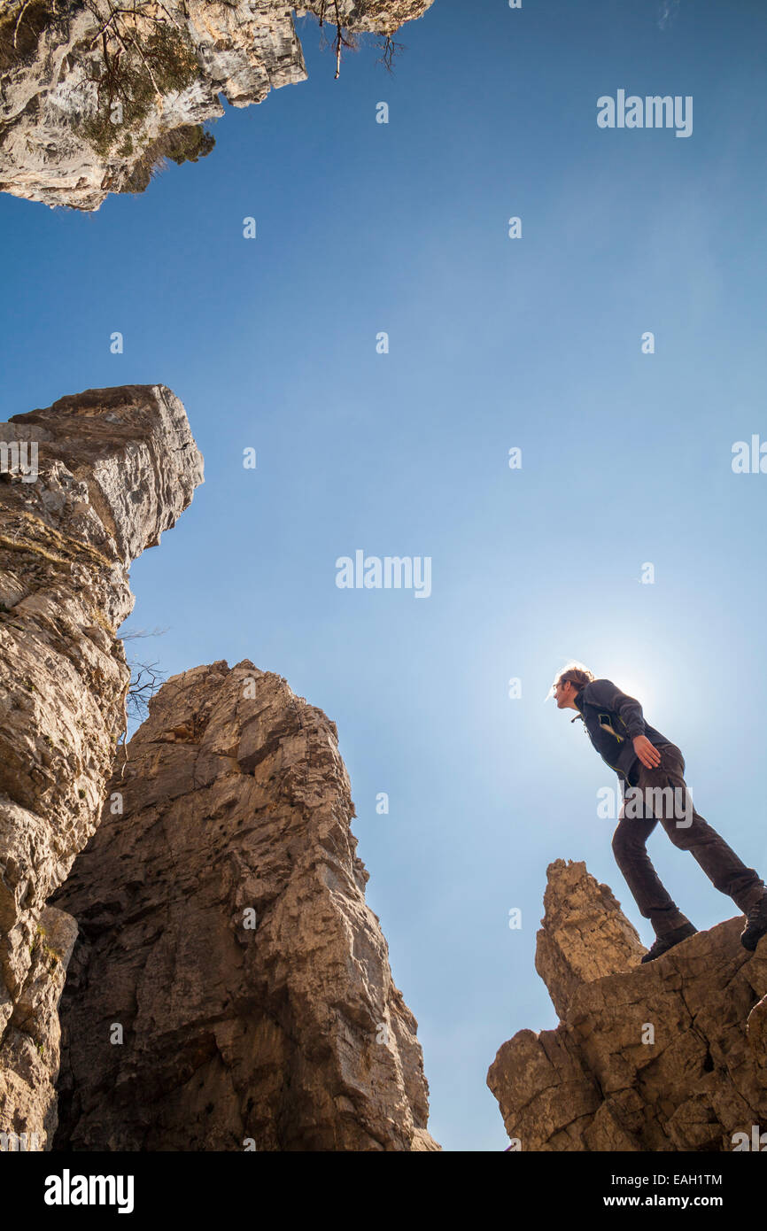 Tours de Saint-Jacques in the Natural Park des Massif de Bauges, Haute-Savoie, Rhône-Alpes, France - Stock Image