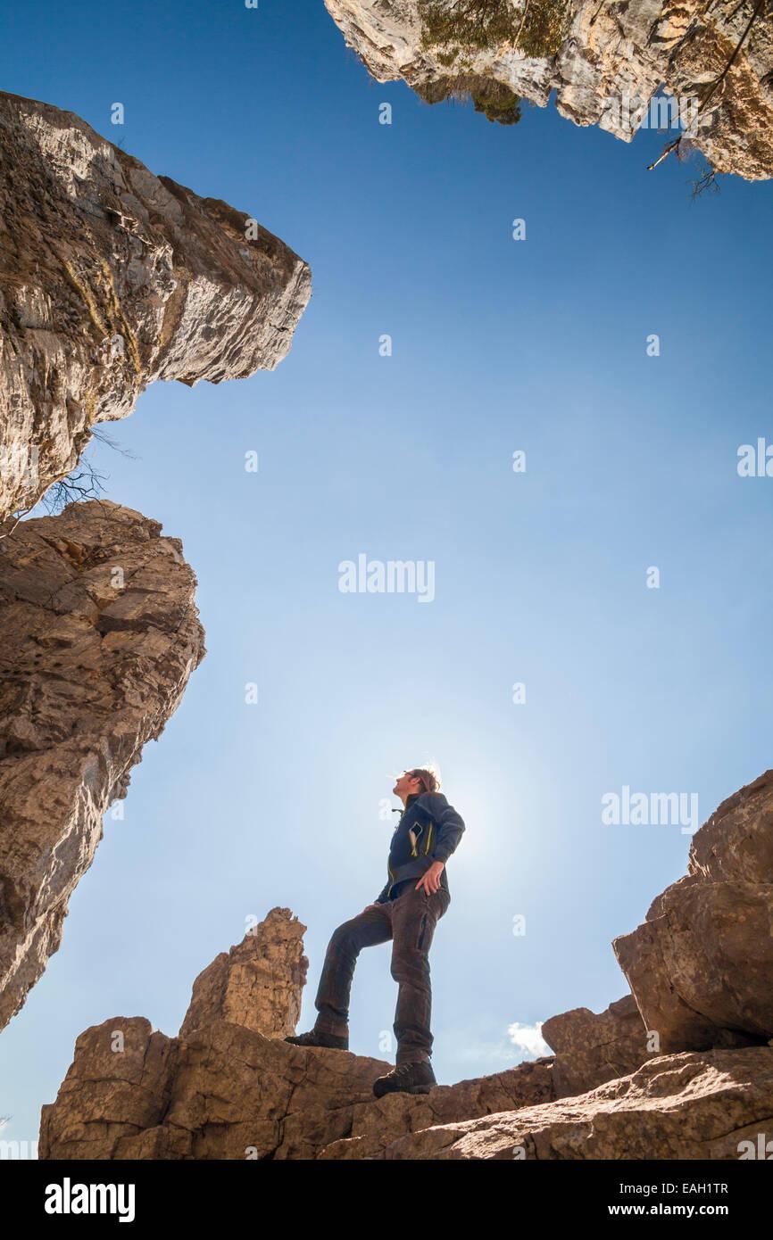 Tours de Saint-Jacques in the Natural Park des Massif de Bauges, Haute-Savoie, Rhône-Alpes, France - Stock Image