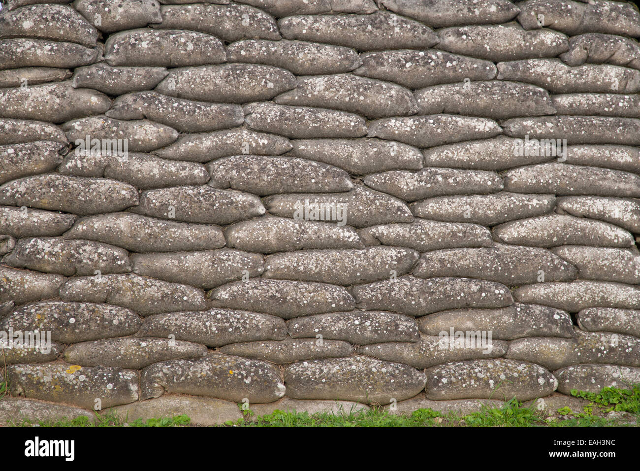 One of the most dangerous Belgian positions on the Western Front during WWI, the trench of death - Stock Image