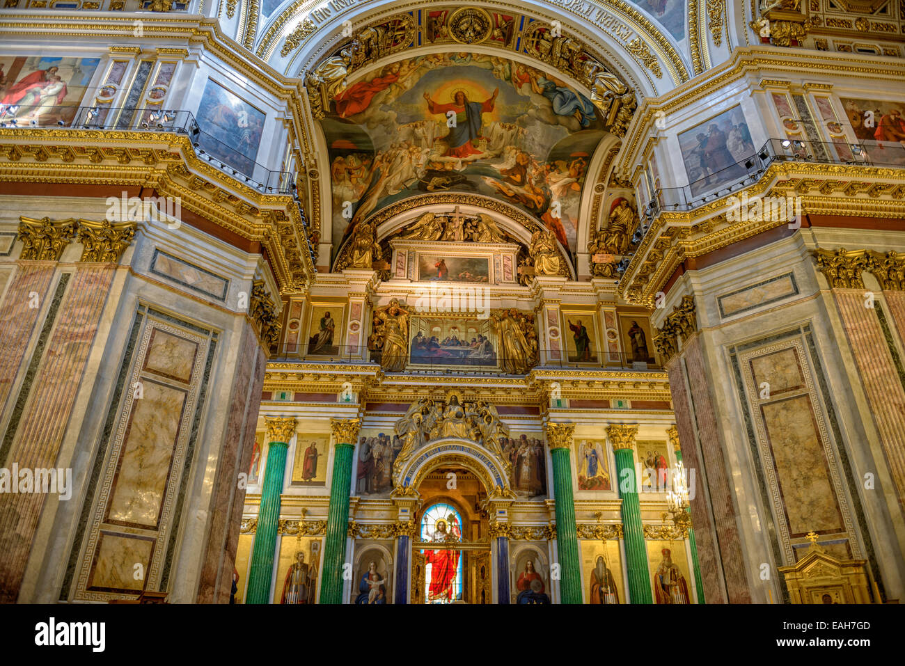 Altar And Interior Of Saint Isaac S Cathedral In St