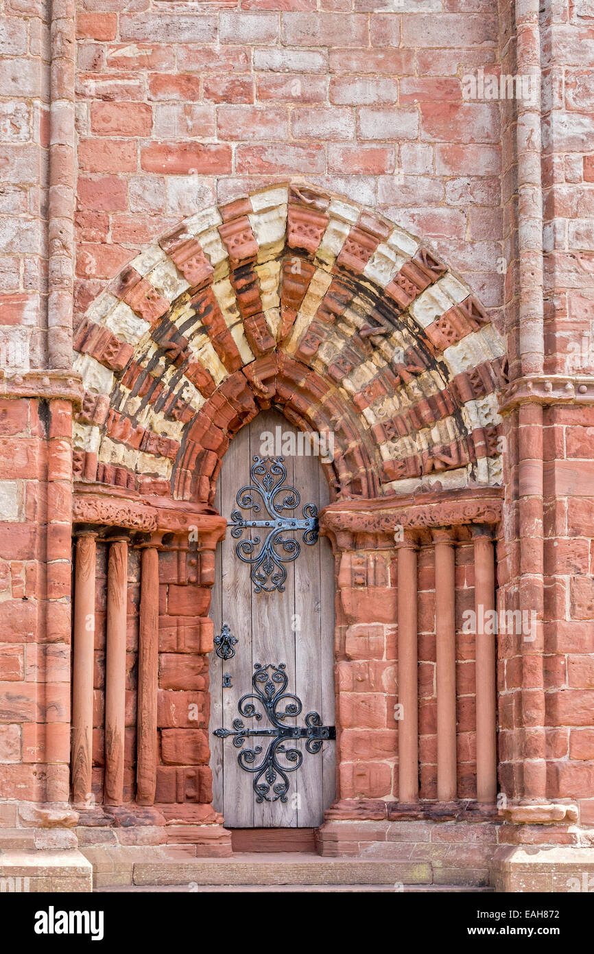 An Entrance To The Cathedral Kirkwell Orkney Islands UK - Stock Image